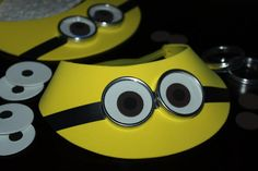 "minion goggles for sale party city | ... Lids for ""goggles"", and 1 roll of black electrical tape for strap"