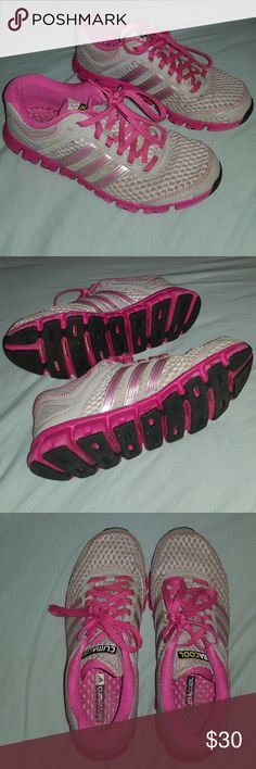 Adidas running shoes Grey and pink Adidas climacool modulation women's running shoes. Used but in EXCELLENT condition. Looks brand new. Very comfortable and light weight!  Size 7 adidas Shoes Athletic Shoes