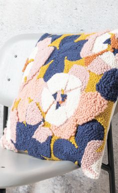 Principiante//Art//Pared Arte Kit de bordado de rayas de color de almohada o tela