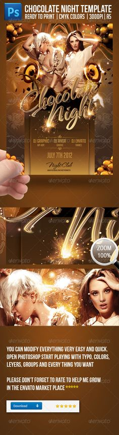 DOWNLOAD THIS HERE: http://graphicriver.net/item/chocolate-nights-party-flayer-template/2203847