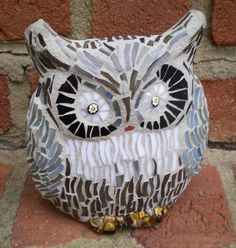 Stained Glass Mosaic 3D Owl by artsyphartsy on Etsy, $85.00