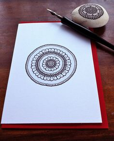 mandala card by MagaMerlina, via Flickr