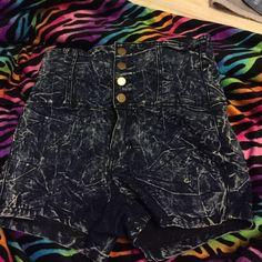 High waisted shorts Cute , acid wash kind Shorts