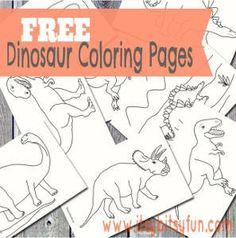 Printable Dinosaur Coloring Pages | AllFreeKidsCrafts.com