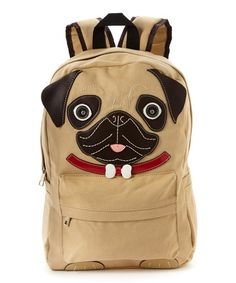 Look what I found on #zulily! Khaki Pug Backpack #zulilyfinds