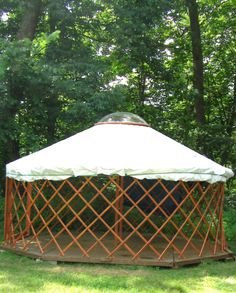 A guy built a yurt/ger in two months for less than 1000 bucks. Not canvas though. Hmmmmmm