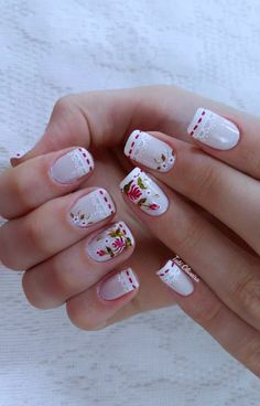 Unhas Francesinhas para inspirar, veja mais de 35 modelos no site Crafts For Kids To Make, How To Make, Animal Nail Art, Beautiful Nail Designs, April Showers, Short Nails, Nail Arts, Summer Nails, Cute Nails