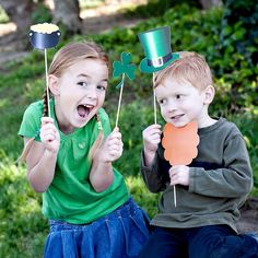 St. Patrick's Day PHOTO BOOTH PROPS Customizable - printable download pdf