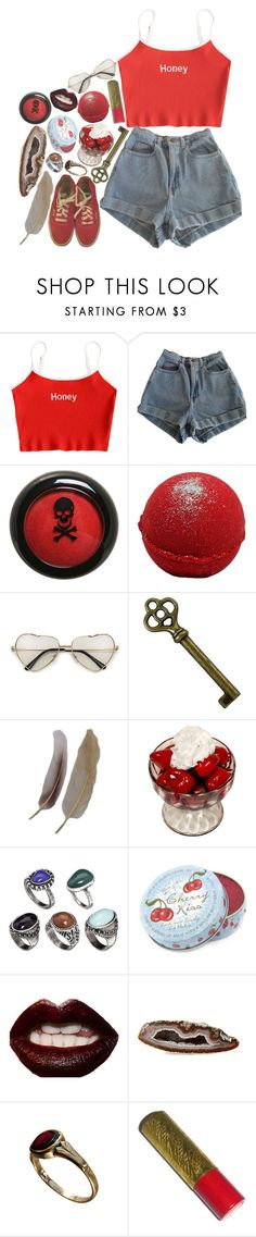 """You've Found The Key To My Heart"" by satan-is-sad ❤ liked on Polyvore featuring American Apparel, Hot Topic, ASOS, Rose & Co., Manic Panic NYC, Mapleton Drive, Gatsby and Vans"