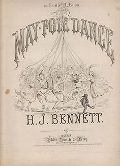 May Pole Dance Sheet Music circa 1871