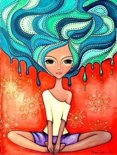 Romi Lerda Arte auf – marcela del bosque – Willkommen in der Welt der Stiefel Art And Illustration, Art Fantaisiste, Art Visage, Inspiration Art, Arte Pop, Naive Art, Whimsical Art, Art Plastique, Medium Art