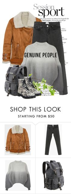 """Cozy Spring Style with Genuine-People"" by andrejae ❤ liked on Polyvore featuring Dr. Martens and Genuine_People"