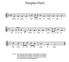 Pumpkin Patch notation and words