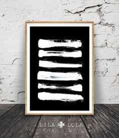 Brush Stroke Art Modern Minimalist Print Painting by LILAxLOLA