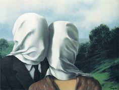 """kmitt:  """"The Lovers I"""", 1928 by Rene Magritte"""