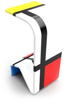 Multi Functional 23 X 11=72 Table and Chair: Brazilian Designers Revive Dutch Group De Stijl