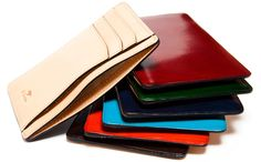 a selection of nice wallets