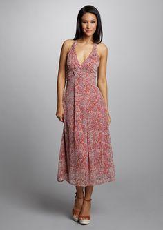 MIX NOUVEAU Floral Print Knotted Back Dress