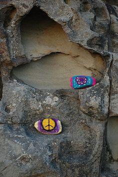 Rock Bombs  Yarnbombing