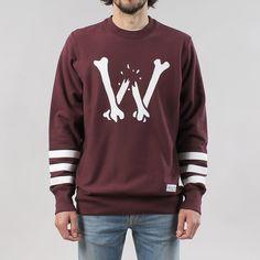 Raised By Wolves Bonecrusher Crewneck Sweatshirt - Burgundy