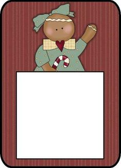 Gingerbread Post It Holder--- http://www.northpolechristmas.com/Christmas-post-its.html