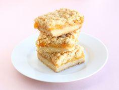 Peach Crumb Bars Recipe on twopeasandtheirpod.com #recipe #peach #summer