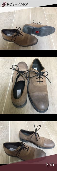 👞Men's MARC NEW YORK - Leather Shoes NWOT👞 👞👞High quality men's Brand-New NWOB shoes. Soft suede, with nubuck heel and toecap, in a rich luxurious light brown color. Pictures don't do it justice. Truly a luxe mens dress shoe!🔆 Andrew Marc Shoes Oxfords & Derbys