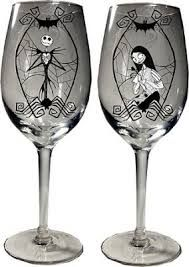 wine glasses Nightmare Before Christmas
