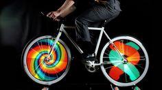 Make Light Art with Your Bike Wheels