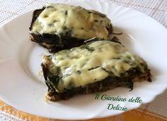Pasticcio di bietole e melanzane, un secondo tutto verdura e formaggio, cucinato completamente al microonde con verdure surgelate, completo ed invogliante.