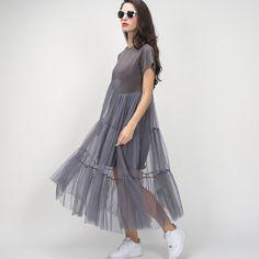Картинки по запросу серое платье с сеткой