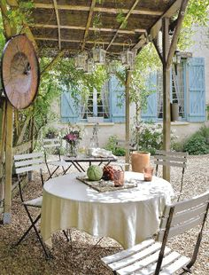 Provence  such bliss sitting in the shade wine food and of course friends