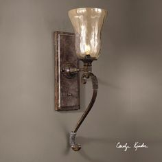 Galeana Wall Sconce Uttermost 1 Light Armed Glass Wall Sconces Wall Lighting