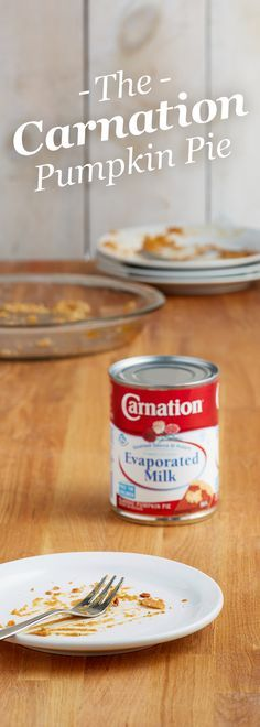 So good, it's gone. The best thing about pumpkin pies made with Carnation® Evaporated Milk? They're rich, creamy and only take 10 minutes to prep. The worst? They don't last long.