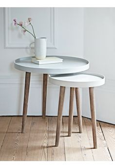 Lina Side Tables - Grey - Occasional Tables - Tables - Furniture