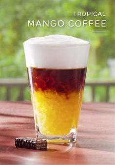 You can almost close your eyes and pretend you're relaxing on a beachside paradise thanks to the fresh flavor of this Tropical Mango Coffee. This easy coffee recipe uses Ristretto Grand Cru and mango juice to create an indulgently sweet drink that will sweep you away.