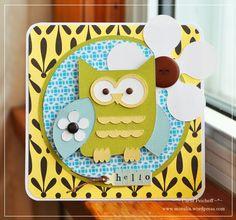 Cute Owl Card with Cricut Paisley