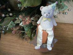 Childrens Birthday Party Decoration Cake Topper Craft Supply Keepsake Teddy Bear #Unbranded #ChildrensBirthdayParty