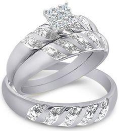 10k Yellow Gold Diamond Anniversary Ring (1/6 cttw, I-J Color, I2-I3 ...