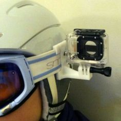What a cool 3D printed goggle mount! This would give a fresh perspective on ski shots.  Download plans now: http://www.heyisiton.com/product/goggle-gopro-mount/