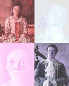 Gideon and Gwen - ruby and diamond.