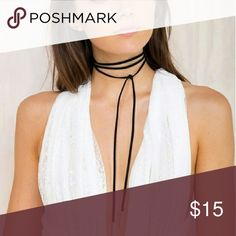 LEATHER ROPE NECKLACE Trendy new look! Rope necklace, fashionable and a statement piece   Follow us on IG: pretty_please_boutique_  Shop with us @ www.prettyplease481.storenvy.com  LINK IN PROFILE   SHIPPING IS ALWAYS FREE  email posted from our buyers at our website to show we are LEGIT and you won't be disappointed Accessories