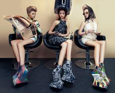 Jeffrey Campbell SHOES Campaign Feat. NICOLA FINETTI Spring Collection 2012
