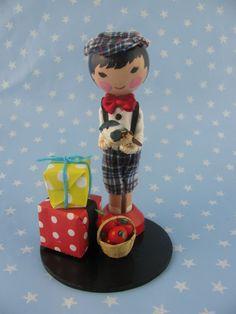 Little boy clothespin doll