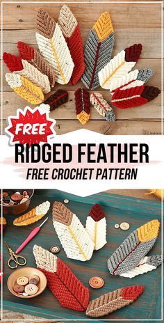 crochet Ridged Feather free pattern crochet Ridged Feather free pattern – easy crochet decoration pattern for beginners Crochet Feathers Free Pattern, Crotchet Patterns, Crochet Leaves, Feather Pattern, Crochet Motif, Crochet Designs, Knitting Patterns Free, Crochet Dreamcatcher Pattern Free, Crochet Bookmark Pattern