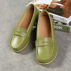 45e15fafe78 Hot-sale Big Size Pure Color Breathable Soft Leather Flat Loafers - NewChic  Mobile
