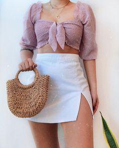 Likes, 46 Comments - Daily Outfits Girly Outfits, Cute Casual Outfits, Pretty Outfits, Stylish Outfits, Fashion Outfits, Summer Outfits Women, Outfits For Teens, Outfit Goals, Looks Style