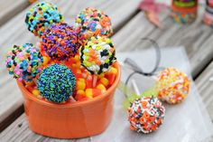 Cookie Dough Pops...great for any holiday!  (these are for halloween)