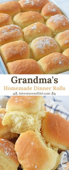 Homemade Dinner Rolls, straight from Grandma's recipe box. So delicious, easy to make, and a family favorite, both for dinner and as a holiday side.