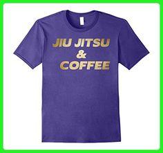 Mens Jiu jitsu and Coffee Tee Brazilian JiuJitsu T Shirt Dogs Small Purple - Food and drink shirts (*Amazon Partner-Link)
